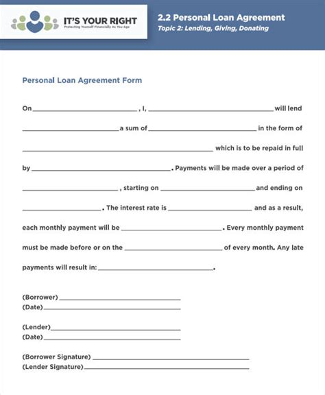 agreement form samples word   premium