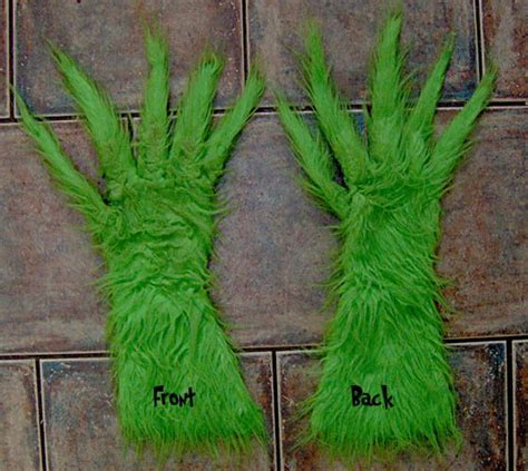 arctic elf hood hands daycare grinch costumes