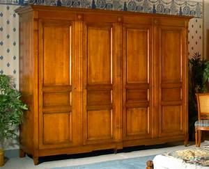 Armoire 4 Portes : meubles richelieu armoire 4 portes de style directoire ~ Teatrodelosmanantiales.com Idées de Décoration