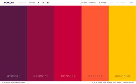 color palette generators html color codes