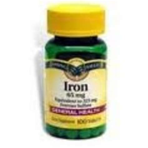 Spring Valley 65mg. Iron Supplement Reviews ? Viewpoints.com