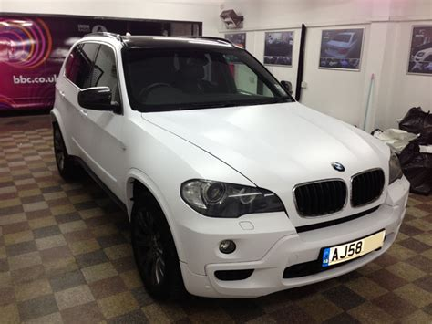 matte white bmw x5 wrapped matte satin white from black by wrapping