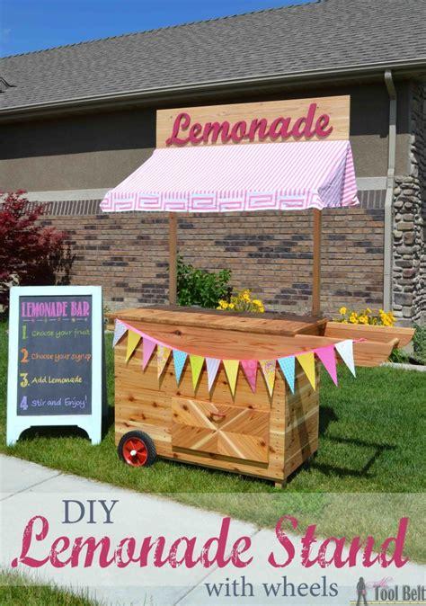 diy lemonade stand  wheels  tool belt