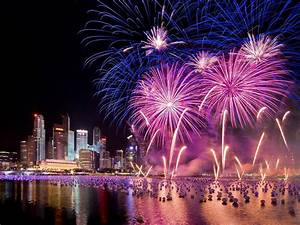 singapore, new, years, eve, holiday, fireworks, city, at, night, hd