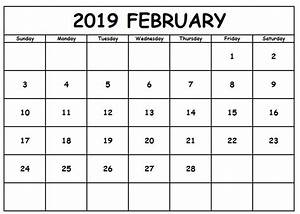 Office Com Templates Word Blank February 2019 Calendar Word Doc Free Printable