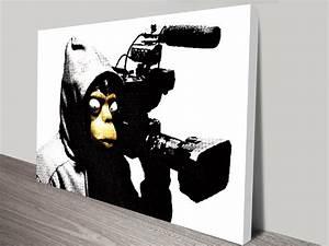 banksy film ape wall art print With banksy wall art