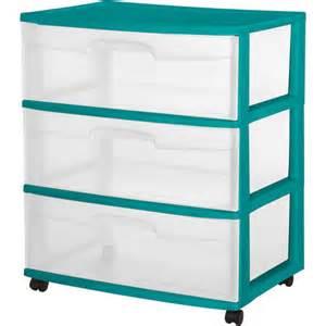 sterilite 3 drawer wide cart teal sachet walmart com