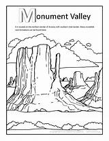 Coloring Pages Valley Canyon Grand Monument Printable Getcolorings States United Arizona sketch template