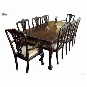 Chippendale French Dining Table And Chair 8 Seater