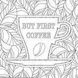 Coloring Coffee Pages Adult Zentangle Getcoloringpages Doodle Theme Printable Sheets sketch template