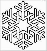 Snowflake Coloring Winter Pages Clipart Printable Christmas Easy Simple Preschoolers Vectors Tribal sketch template