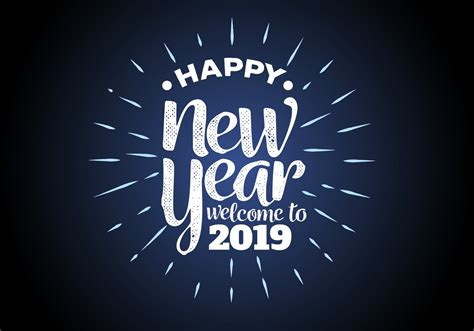 Happy New Year Free Vector Art
