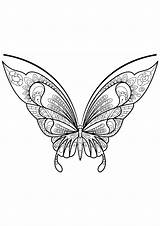 Butterfly Coloring Butterflies Pages Zentangle Adults Patterns Printable Print Moth Simple Children Insects Adult Coloriage Animals Nggallery Justcolor Insectes sketch template