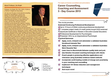 Bright And Earl Resumes That Get Shortlisted by Bright And Associates Career Coaching Psychology