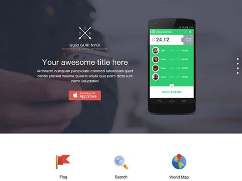 bootstrap  single page template freebiesbug