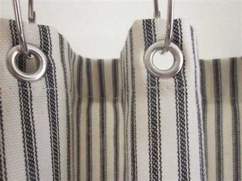 ticking stripe shower curtain second sale clearance