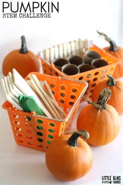 pumpkins stem challenge  bins