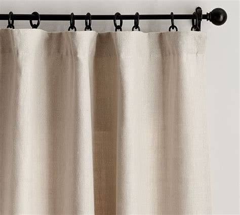 Pottery Barn Curtains Linen by Belgian Flax Linen Drape Pottery Barn