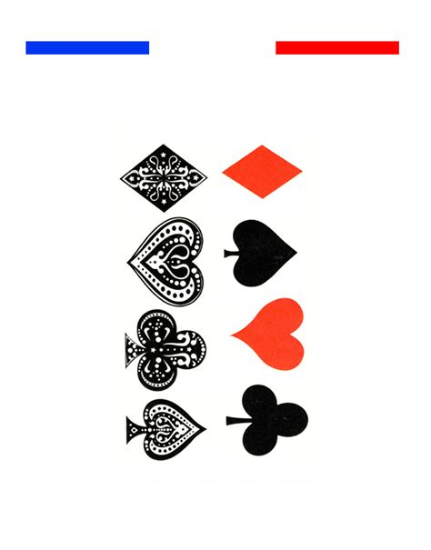Tatouage Cartes De Poker Temporaire  Mon Petit Tatouage