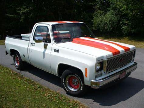 Buy Used 77 Chevy Truck White & Orange Fleetside Bed Short