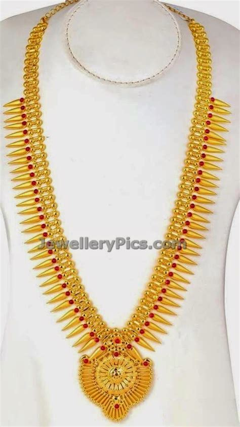 mullamottu mala kerala long chain   jewelry