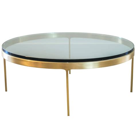 circle coffee table solid brass coffee table by nicos zographos at 1stdibs