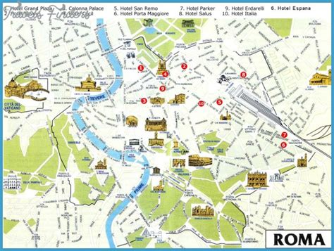rome map tourist attractions travelsfinderscom