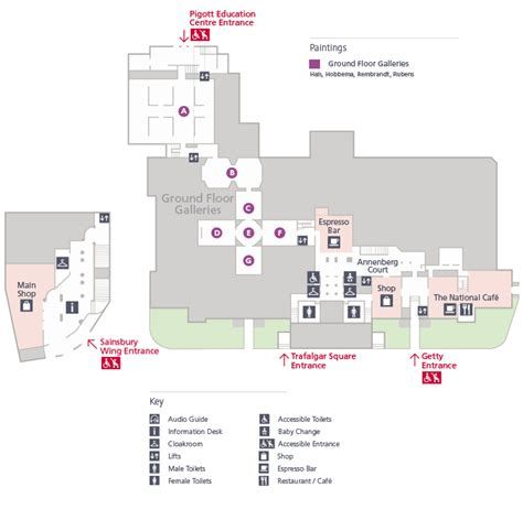 sitemap gallery level 0 floorplans national gallery
