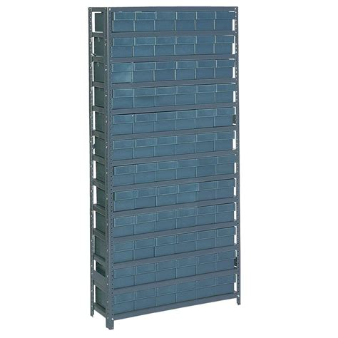 Plastic Storage Cabinets Home Depot by Edsal 72 Bin 36 In W X 12 In D X 75 In H Heavy Duty 7