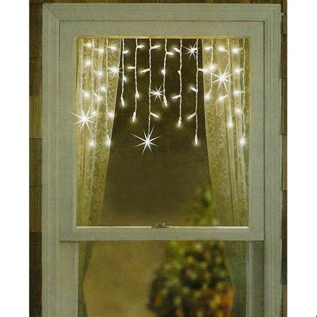 shimmering christmas lights set of 50 twinkling shimmering clear window curtain icicle lights white wire