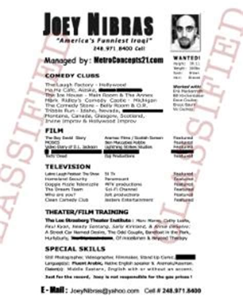Comedy Resume by Comedy Resume