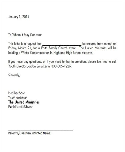 excuse letter for school 34 sle formal letter format sle templates