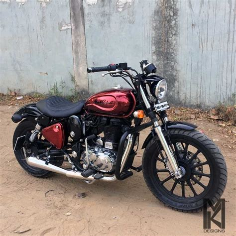 Royal Enfield Classic 500 Image by Modified Royal Enfield Classic 500 Bobber Conversion By Mk