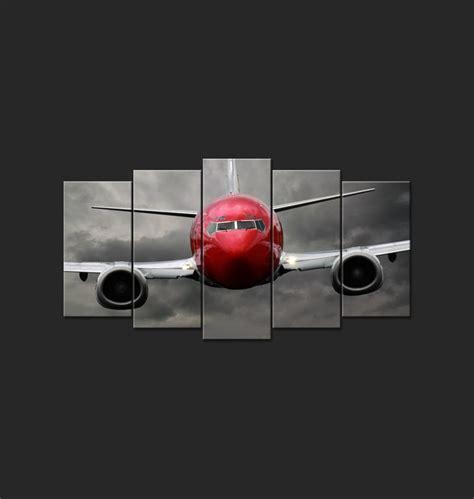 model de chambre a coucher tableau design polyptyque avion volant home
