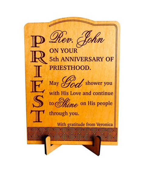 gifts for priests christmas anniversary of priesthood gift gifts for priest personalized ordination plaque plp059