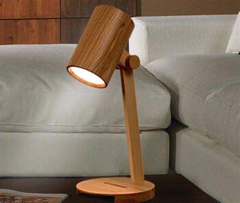 handcrafted wooden original desk lamp decorative lamp night