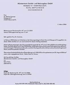 Inhalt Rechnung : gesch ftsbrief text musterbrief mahnung ~ Themetempest.com Abrechnung