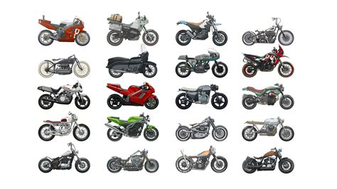 Collage Of Motorcycles Hd Wallpaper