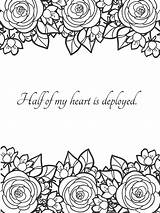 Coloring Husband Wife Notes Military Soldier 4th sketch template