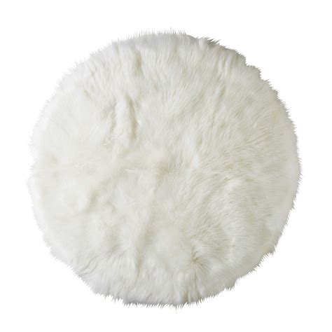 chambre et gris ado tapis rond en fausse fourrure blanche d 140cm furil