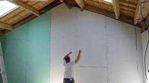 Poser Placo Mur Avec Rail : comment plaquer un pignon placo sur fourrures youtube ~ Melissatoandfro.com Idées de Décoration