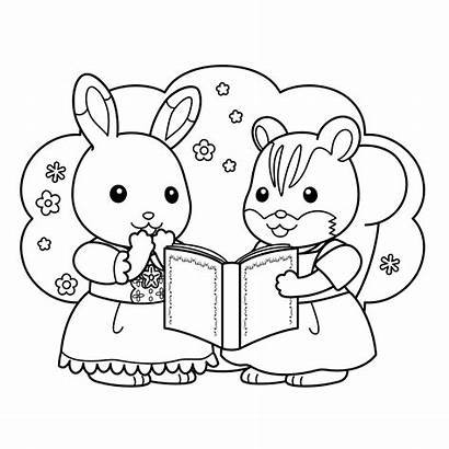 Calico Coloring Critters Pages Cat Bunny Getcoloringpages