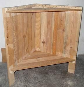 meuble d39angle le blog de bea With comment fabriquer un meuble d angle