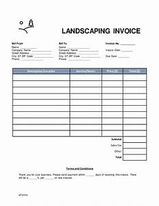 Free landscaping invoice template word pdf eforms for Landscaping invoice template pdf