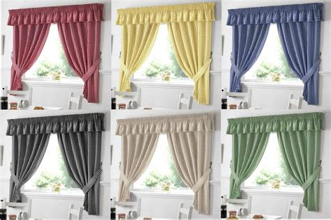 Country Style Curtains And Drapes - country style kitchen gingham curtain pair window drapes