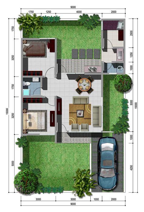 sketsa denah rumah minimalis type  rumah impian