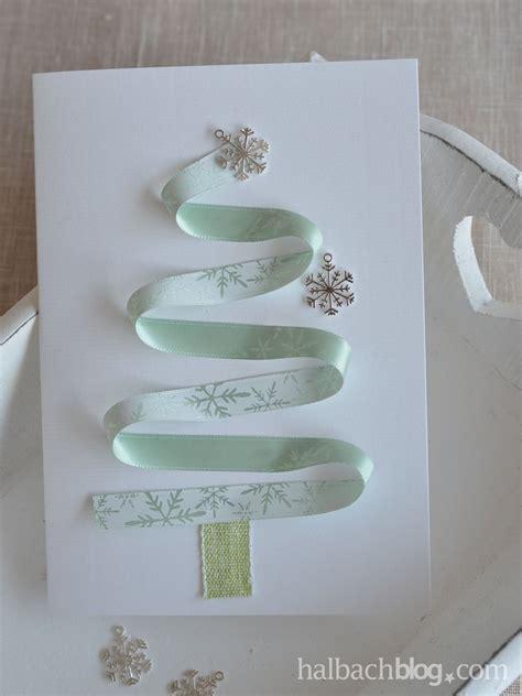 halbachblog  diy ideen karten basteln  weihnachten