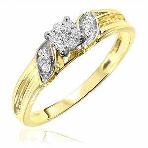 1 10 carat tw diamond women39s engagement ring 10k yellow With wedding rings for women yellow gold