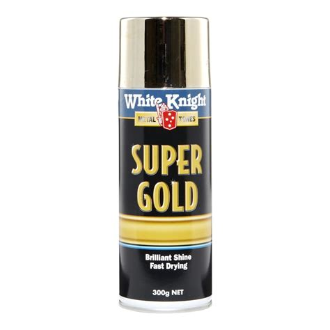 white knight 300g super gold spray paint bunnings warehouse