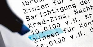 Dispokredit Berechnen : dispokredite keine spur von verschleierung ~ Themetempest.com Abrechnung